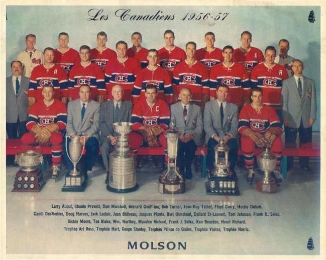 1956-57 Stanley Cup Champions