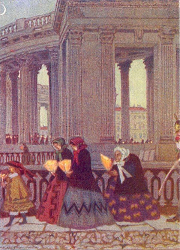 MSTISLAV Dobuzhinsky Great chetverg
