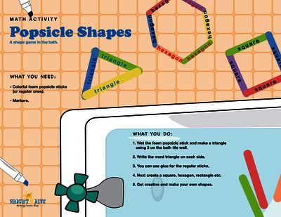 Popsicle shapes, math activity from BrightNRite from BrightNRite on TeachersNotebook.com (1 page)  - Popsicle shape is a fun way to review shapes, they are colourful, easily available with unlimited usability.