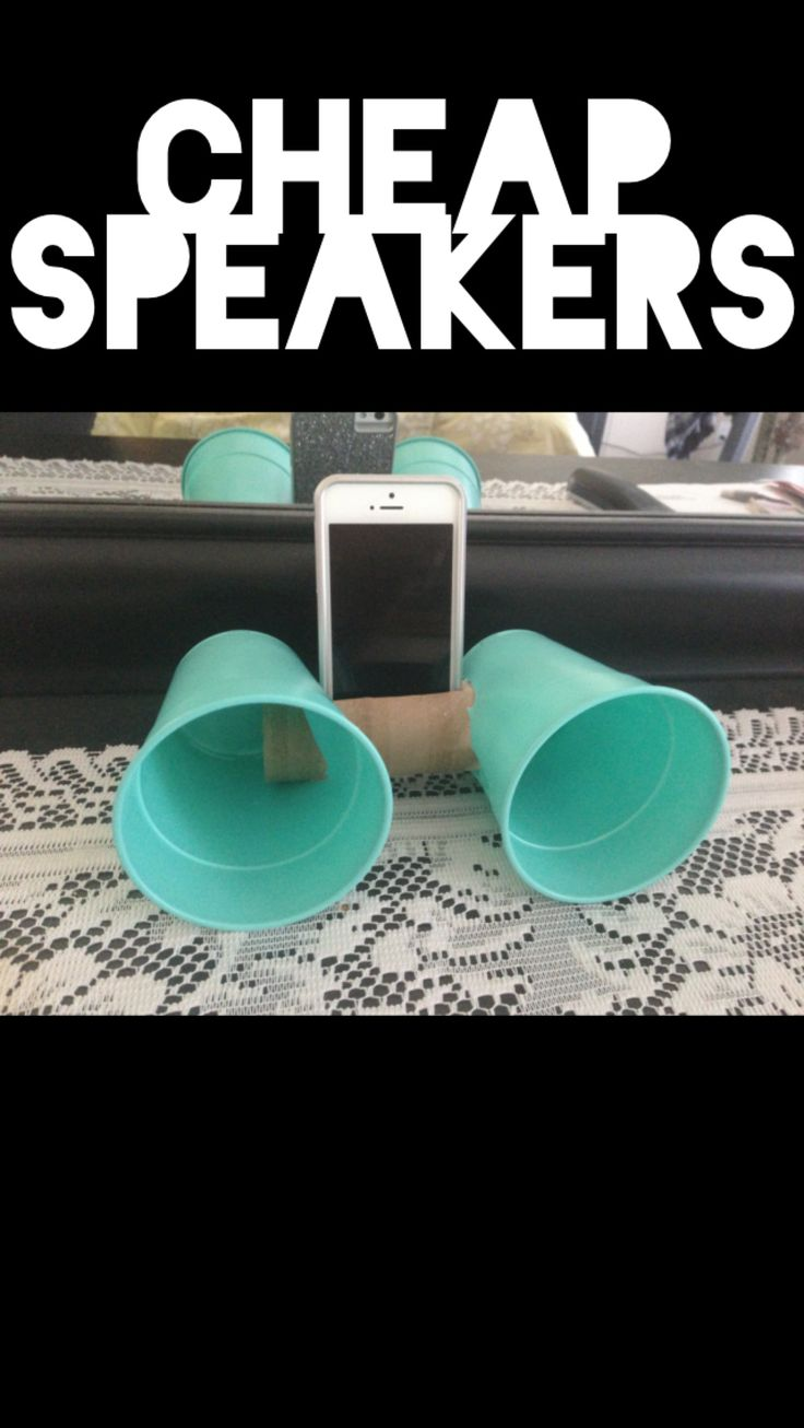 Cheap speakers! Easy to make and easy to carry around #diy #teal #crafts