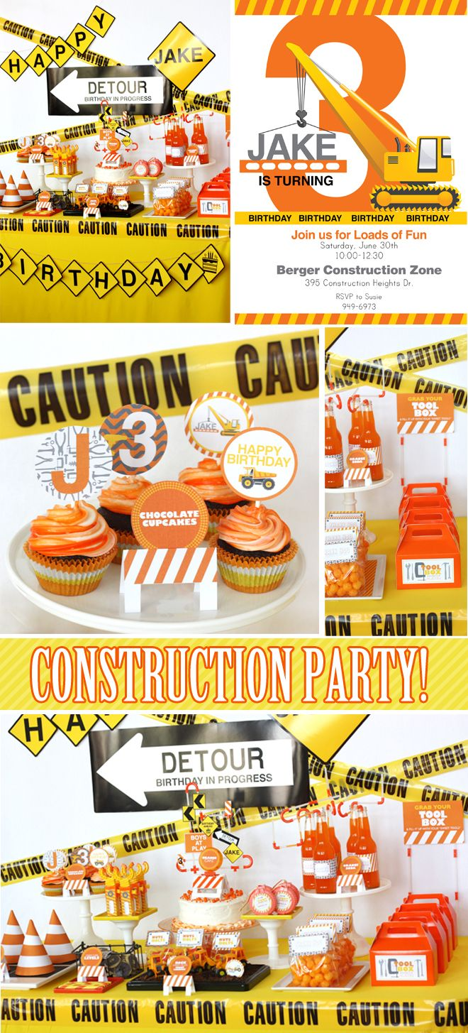 i dig you construction themed birthday party