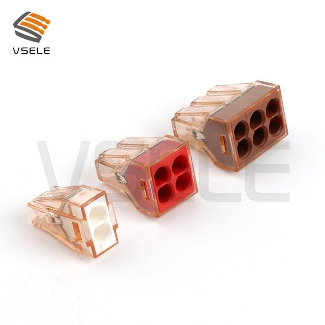 10pcs Wago Push In Wire Connector Wiring Connector Electrical Quick Disconnect Connectors Wire Connector Kit Review Wire Connectors Connectors Connector