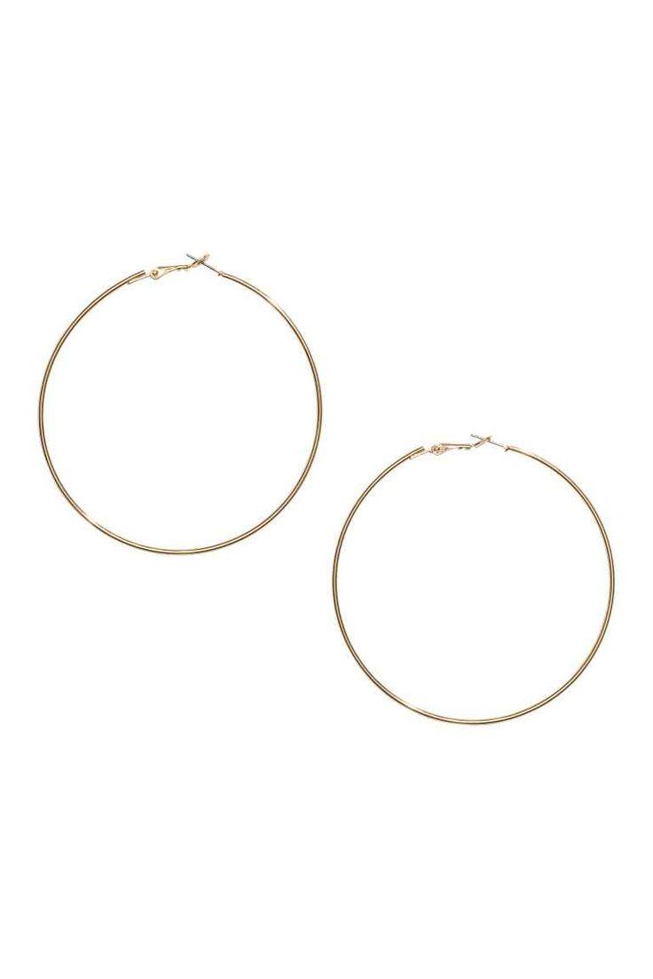 Large hoop earrings | H&M