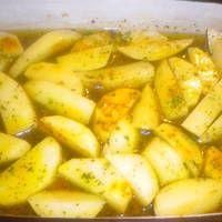 Patatas asadas al limón griegas