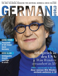 "Wim Wenders featured on the latest German World Magazine cover. Did you catch ""Pina"" in 3D?"