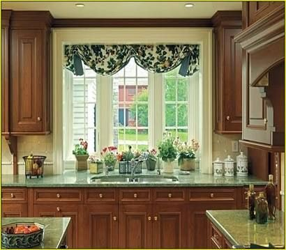 1000 Ideas About Kitchen Bay Windows On Pinterest Bay Windows No Sew Valance And Valances