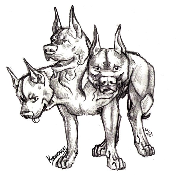 three headed beast coloring pages - photo#41