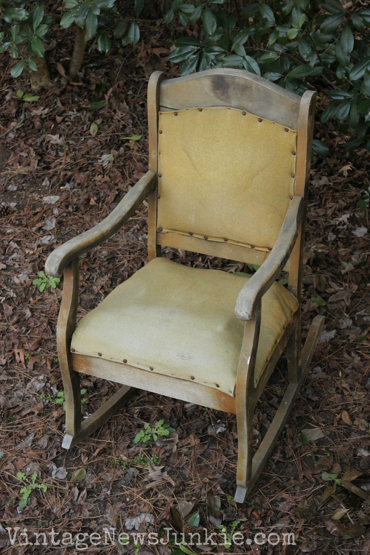 The Rescued Rocking Chair: How to Reupholster a Chair Tutorial - 79 Best Platform Rocker Images On Pinterest Rockers, Recliners And