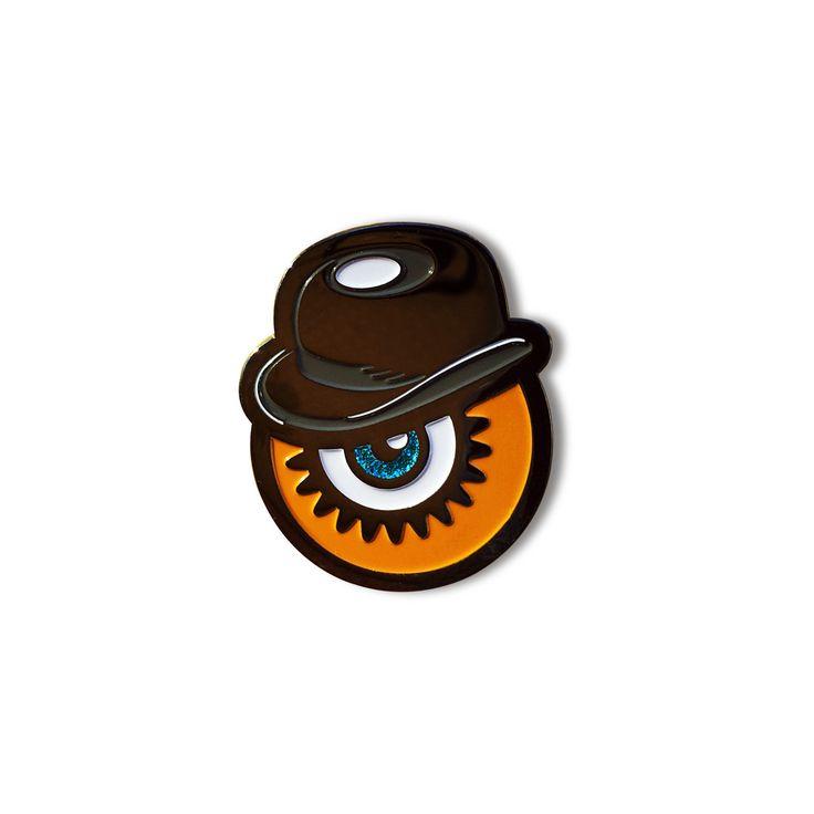 Ultra-Violent Orange Enamel Pin