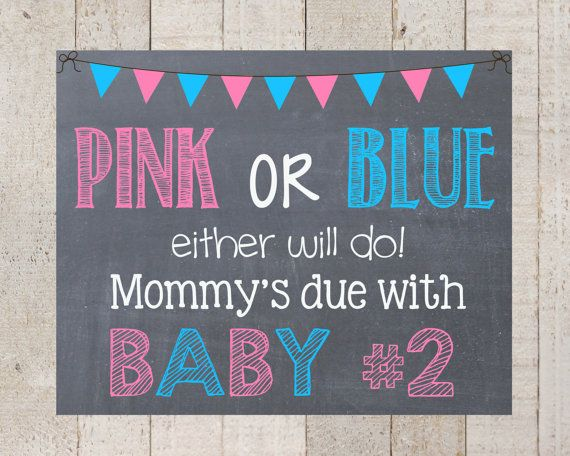 Pregnancy Announcement-Pink or Blue Either Will Do - Pregnancy Sign- I'm being promoted to -bis sister- big brother-pregnancy