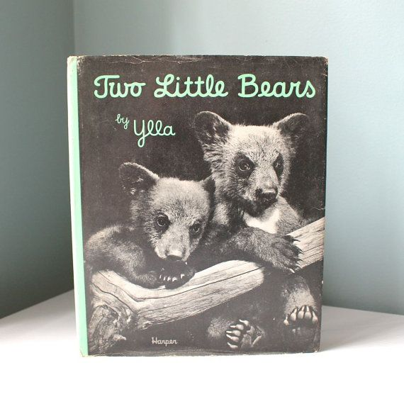 Vintage Children's Book Bear Book Two Little Bears by AnnataStyle