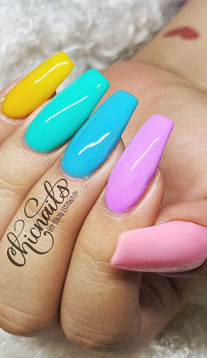Acrylic Nail Designs In Different Color Shades Page Number 21 Acrylic Nail Designs Popular Nails Nail Designs