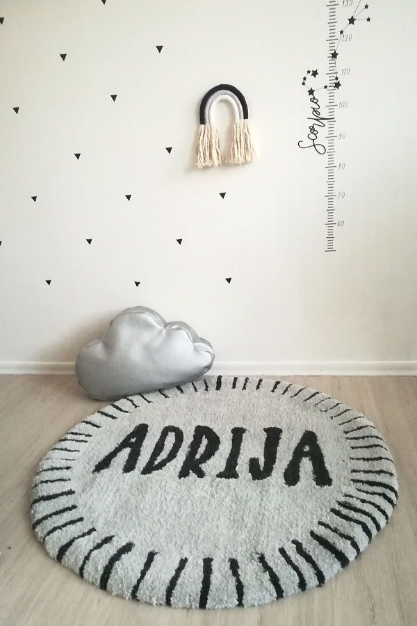 Personalized Round Wool Rug