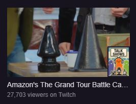 The Grand Tour season 1 is being streamed on Twitch right now. This was the thumbnail that greeted me when I logged in this morning #funny #meme #LOL #humor #funnypics #dank #hilarious #like #tumblr #memesdaily #happy #funnymemes #smile #bushdid911 #haha #memes #lmao #photooftheday #fun #cringe #meme #laugh #cute #dankmemes #follow #lol #lmfao #love #autism #filthyfrank #trump #anime #comedy #edgy