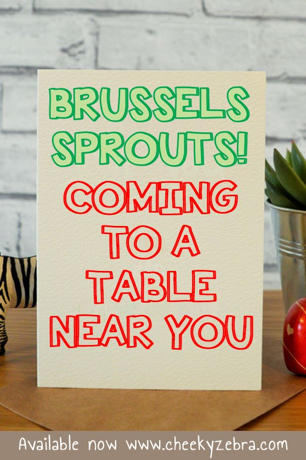 Brussels Sprouts in 2018 | Funny Christmas Cards | Pinterest ...