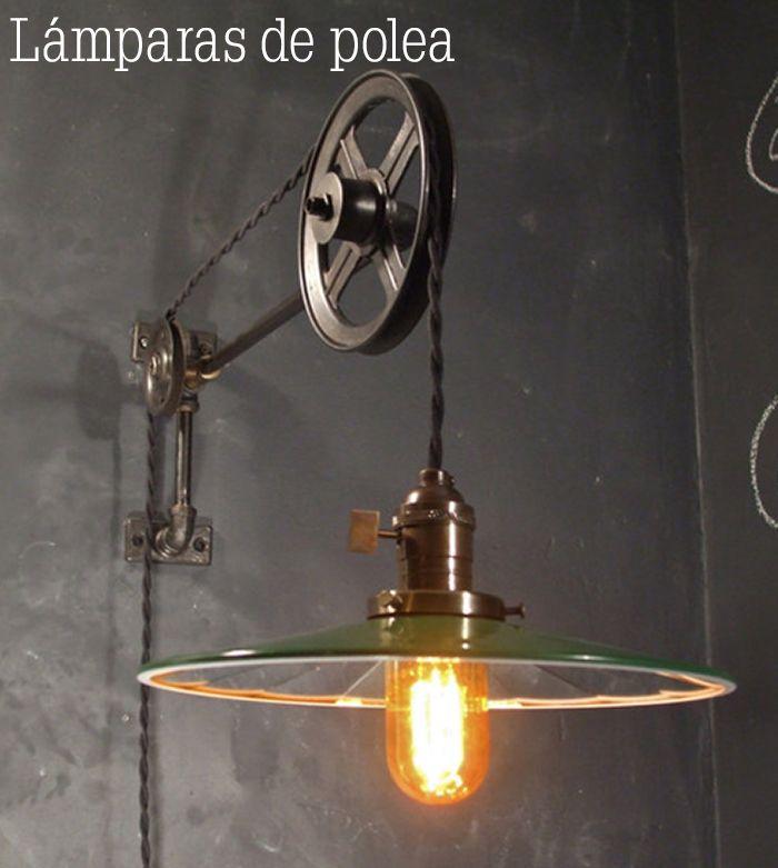 17 mejores ideas sobre l mpara de polea en pinterest - Decoracion de lamparas ...