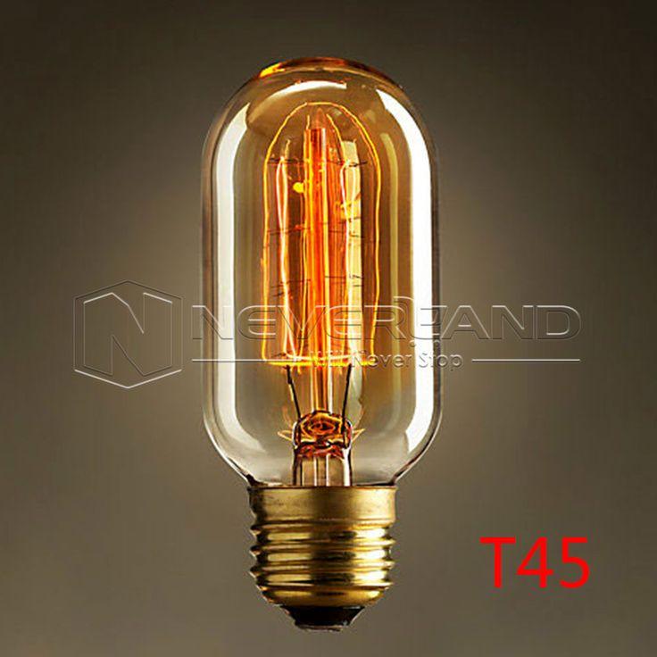 40W 220V Antique Vintage Retro Edison Bulbs E27 Spiral Incandescent Light ST64 A19 G80 LED Edison Lamp For Pendant Lamp Lighting