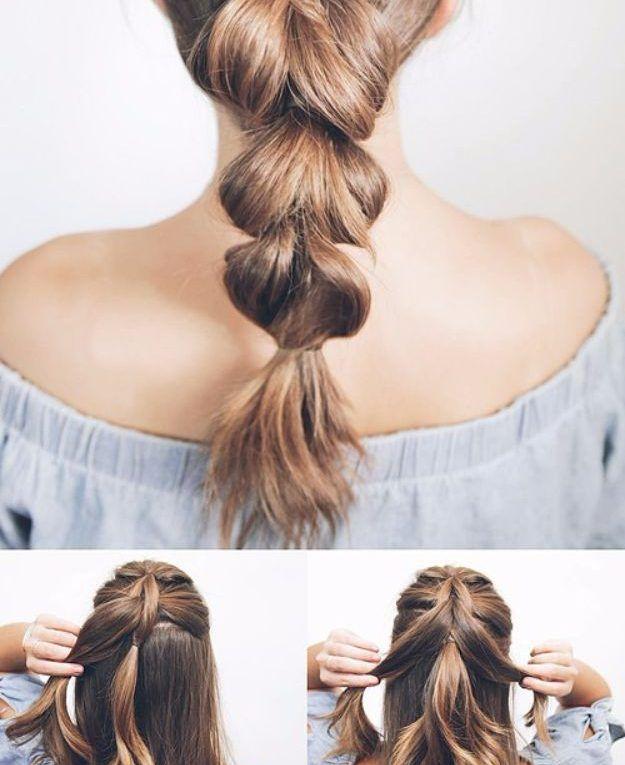 Cool Hair Tutorials Fur Den Sommer Ziehen Sie Durch Das Zopf Tutorial Einfache Frisuren U Frisur Hochgesteckt Hochsteckfrisuren Lange Haare Frisuren