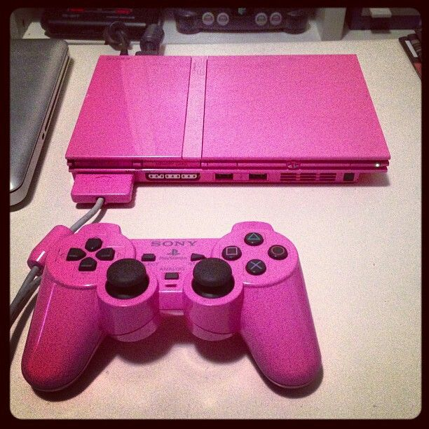 Pink PS2 is cute though I do not play games.