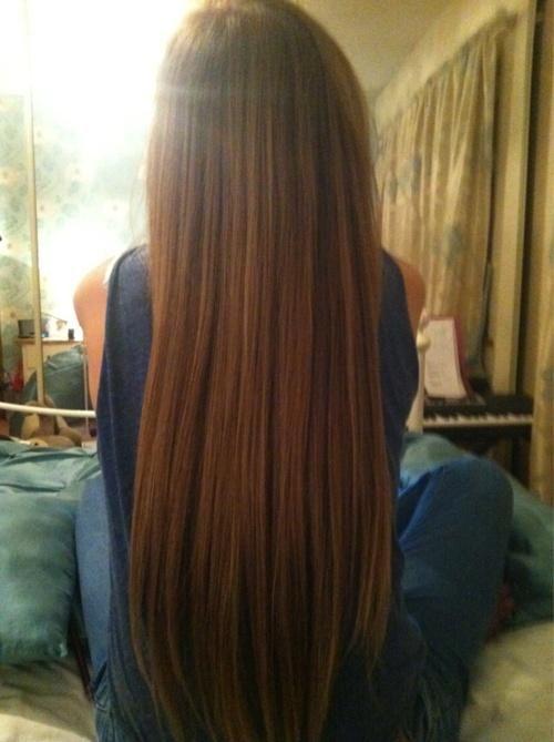 long straight smooth hair