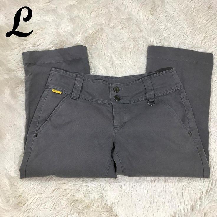 Lole Womens Capri Pants Stretch Cotton Blend Low Rise Cropped Gray Size 4 #Lole #CasualPants
