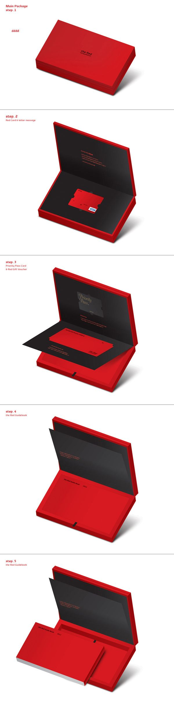 Hyundai Card the Red Package Renewal Project by Plus X , via Behance