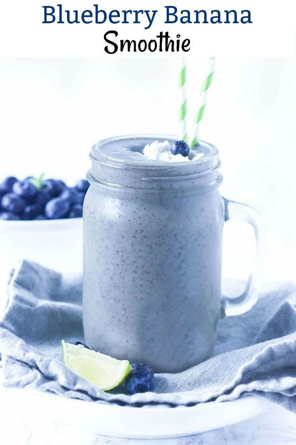 Creamy and delicious blueberry banana smoothie, th…