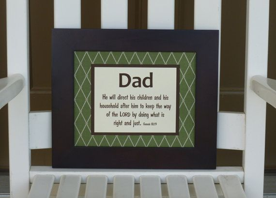 scripture wall art for Father's Day by abidingwordcreations, $30.00: Father'S Day Gifts, Gifts Ideas, Father Day Gifts, Fathers Day Gifts, Fun Gifts
