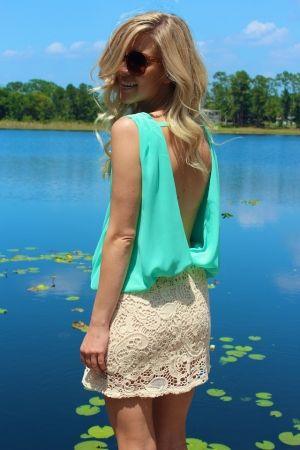 Mint Crochet Dress