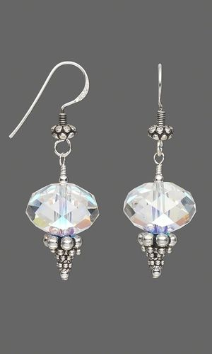 Earrings with Swarovski Crystal Beads and Sterling Silver Beads - Fire Mountain Gems and Beads
