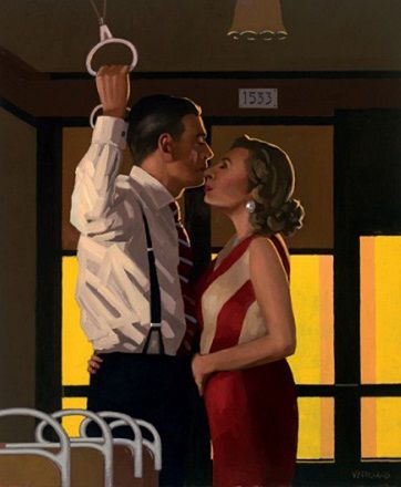 Jack Vettriano - The Last Great Romantics The original of this painting was shown at the Days of Wine & Roses exhibition in 2010