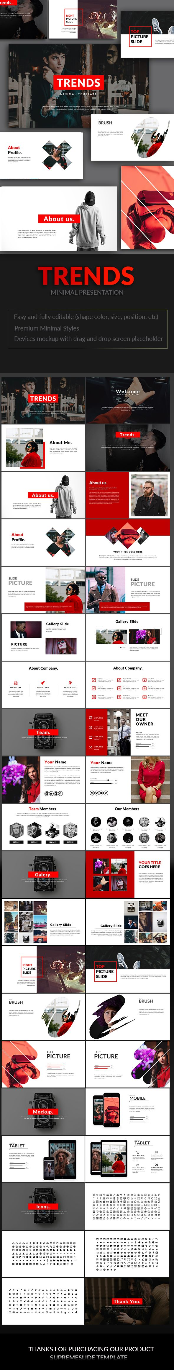Trends Powerpoint Template - PowerPoint Templates Presentation Templates