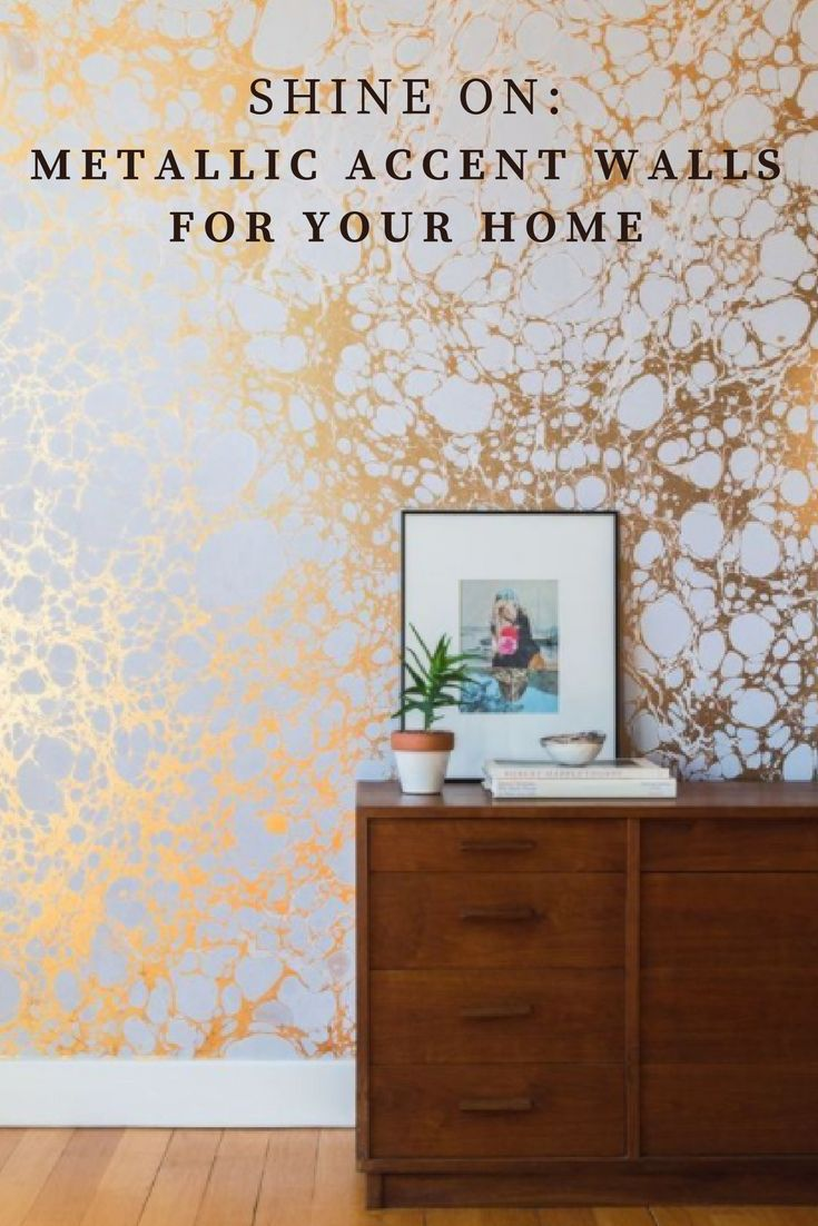 When it comes to home decor, sometimes you gotta let your accent walls shine! These metallic accent walls are sure to bring some well-deserved fun into your home.