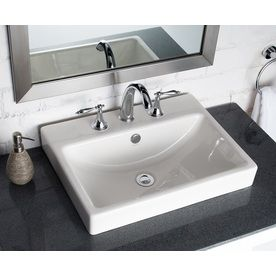 Shop Jacuzzi Anna Farmhouse White Drop In Rectangular Bathroom Sink With  Overflow At Lowes.