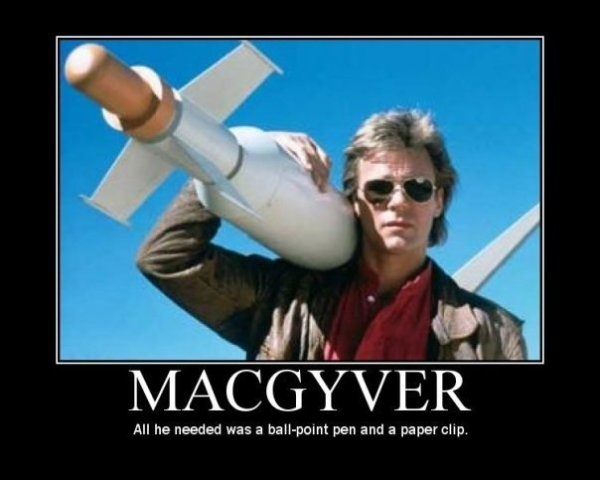 if only his solutions were real - Macgyver Halloween Costume