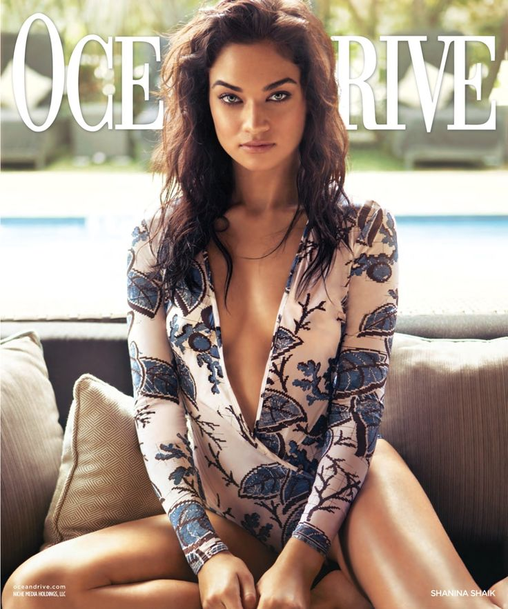 Shanina Shaik on Ocean Drive Magazine February 2016 cover