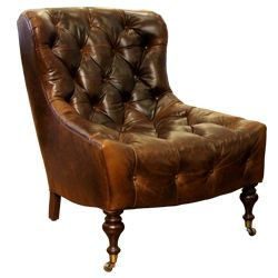 Koffi Leather Chair - Chocolate HW Home