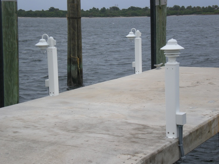 23 best mac post surface mounted outdoor lighting products images these mac posts are installed on a concrete dock note the different light fixtures the fixture styles were chosen to achieve the type of lighting mozeypictures Gallery