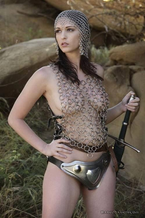 girls in chainmail nude