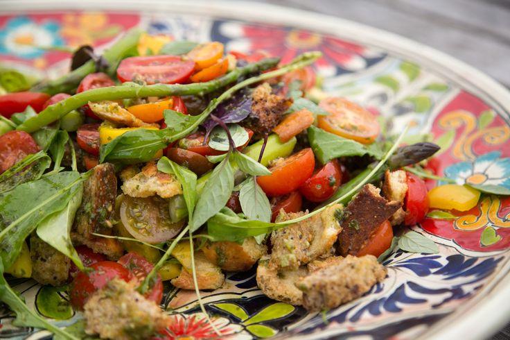 Heirloom Tomato & Asparagus Panzanella Salad THE BOX - Ripe Recipes