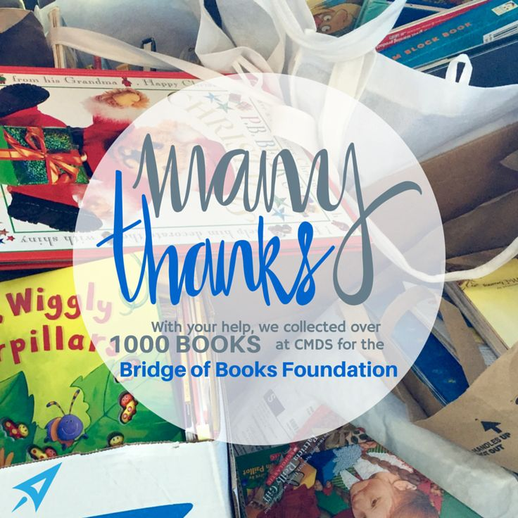 """We are thankful for your support to our mission to transform """"book poor"""" kids into """"book rich"""" kids. @BridgeofBooks #BooksforAll"""