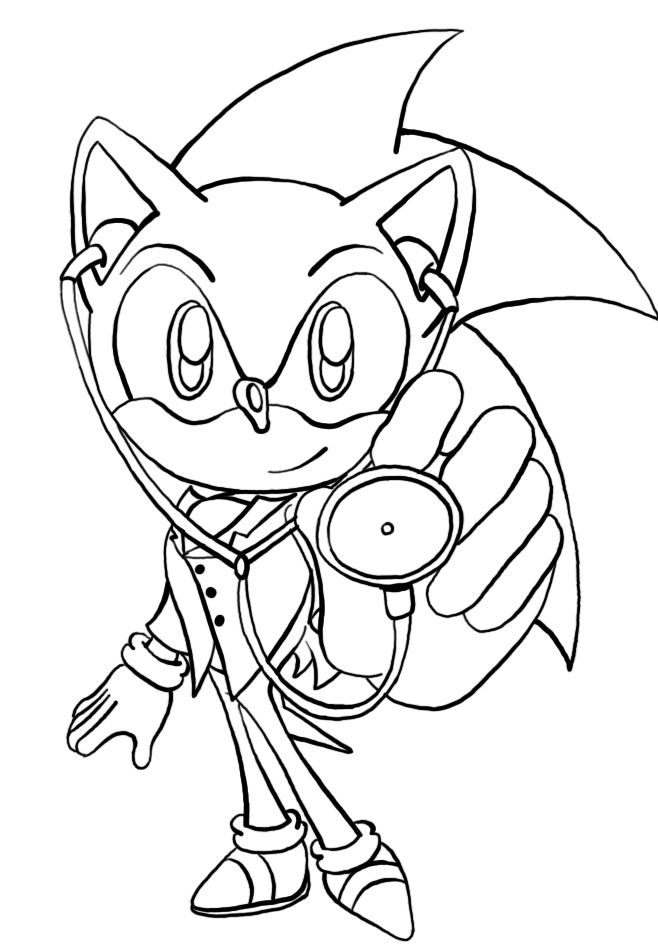 Free Printable Sonic The Hedgehog Coloring Pages For Kids ...