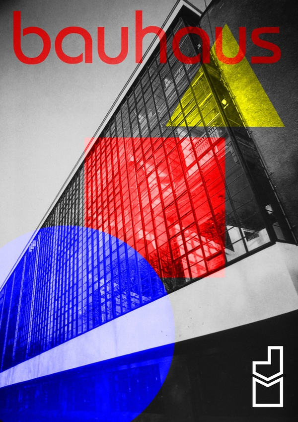Poster Bauhaus by Juan Medina, via Behance