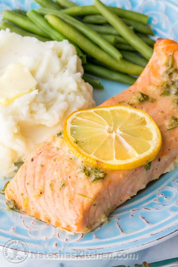 Our Favorite Baked Salmon Recipe - juicy, flaky and super delicious. A 5-Star recipe!!   natashaskitchen.com