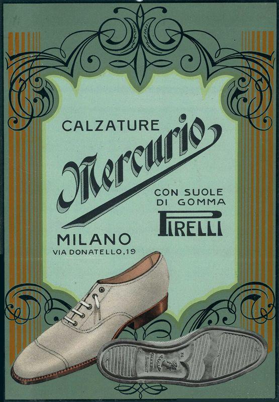Calzature Mercurio (Con suole di gomma Pirelli) by Artist Unknown | Shop original vintage posters online: www.internationalposter.com