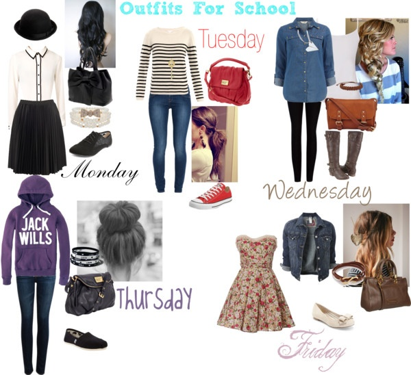 Loving all of these outfits except the Monday look. Its just not my cup of tea | Outfits I like ...