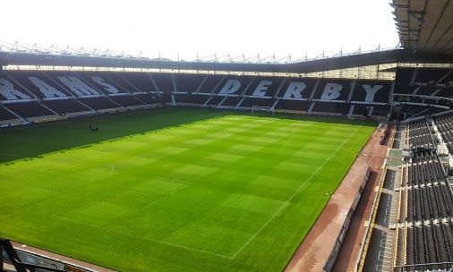 Derby County Football Club - The iPro Stadium, formerly Pride Park Stadium.