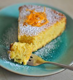Scandi Home: Flourless Orange Cake | this recipe uses cooked and pureed whole oranges, much like an old Swedish limpa bread recipe I tried once. The cooked oranges went through the food mill just fine. This cake sounds amazing.