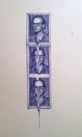 Greg Gilbert, Biro Miniatures...Slide (Portrait of Andrew Carnie)