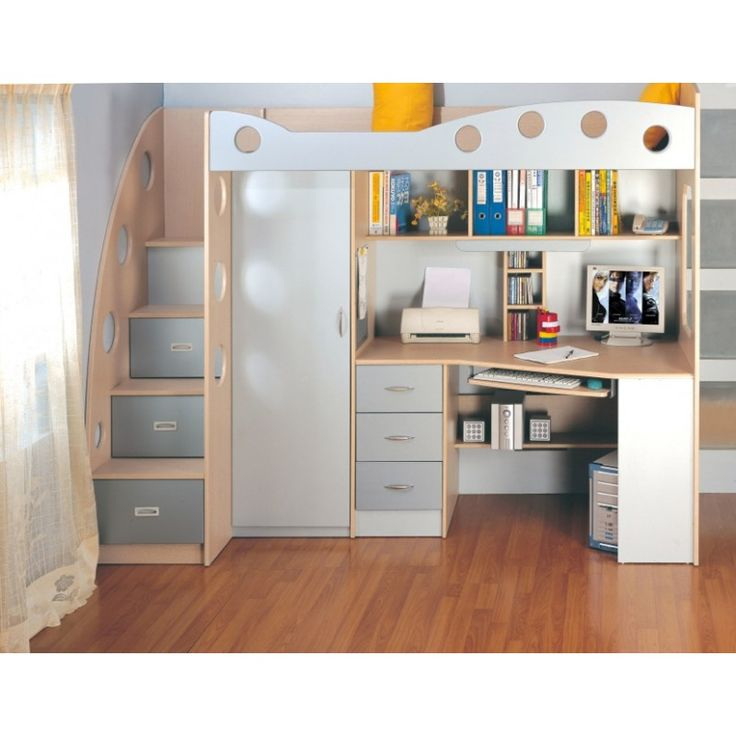 lit combin multifonction enfant jim lit organis pinterest mezzanine and lights. Black Bedroom Furniture Sets. Home Design Ideas
